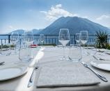 Ristorante in Villa Belvedere Como lake Relais Argegno, lago di Como